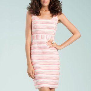 Trina Turk Pink & White Striped Dress -- Size 6